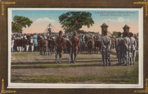 India Coronation Durbar Delhi  Procession Laying Foundation Stone Postcard