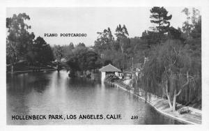 LOS ANGELES, CALIFORNIA, HOLLENBECK PARK RPPC REAL PHOTO POSTCARD