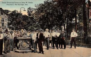 Hot Springs Arkansas~Outside Frank's in Howard Building~Drinking a Toast c1910