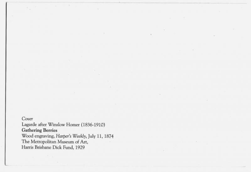 Brandywine River Museum Art Exhibit Invitation Winslow Homer