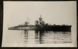 Mint RPPC Postcard Italy Navy Battleship Regia Marina Trieste Heavy Cruiser