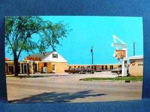 Postcard MI Escanaba Hiawatha Motel