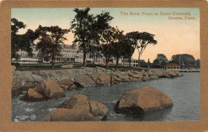 River Front at Hotel Griswold, Groton, Connecticut, Early Postcard, Unused