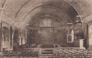Organ & Interior St Christopher Church Haslemere Antique Postcard