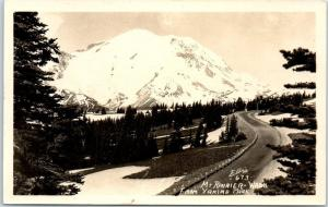 Mount Rainier, Washington RPPC Real Photo Postcard From Yakima Park ELLIS #673