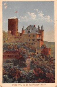 Burg Katz bei St Goarshausen a Rhein Germany Tape on back
