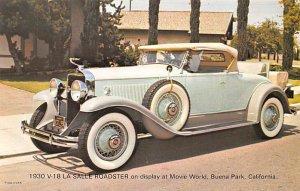 1930V18 La Salle Roadster Movie World, Buena Park, California, USA Unused