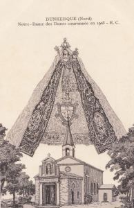 Dunkerque Notre Dames Des Dunes Couronmee 1903 Religious Postcard