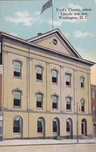 Ford's Theatre Where Lincoln Was Shot Washington D C