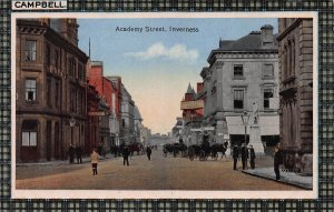 Academy Street, Inverness, Scotland, Early Postcard, Unused