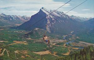 Banff Chairlift On Mt Rundle Banff National Park Canada