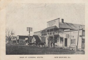 NEW BEDFORD , Illinois , 1900-10s ; C. & NMain Street Looking South