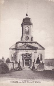 DEMANGE AUX EAUX, Meuse, France, 1900-1910's; L'Eglise