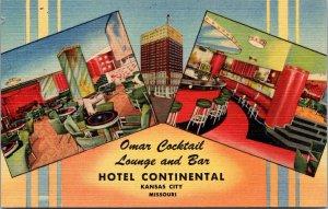 Linen Postcard Omar Cocktail Lounge in Kansas City, Missouri~133746