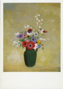 Odilon Redon The Large Green Vase Art Artist Postcard D14