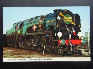 British Railways SR Merchant Navy Class LOCO No.35028 GOLDEN ARROW Old Postcard