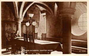 Vintage North Yorkshire Real Photo Postcard, Ripon Cathedral Chapter House GM5
