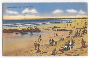 Googins Rocks Old Orchard Maine Beach View Tichnor Posted From Beach Postcard