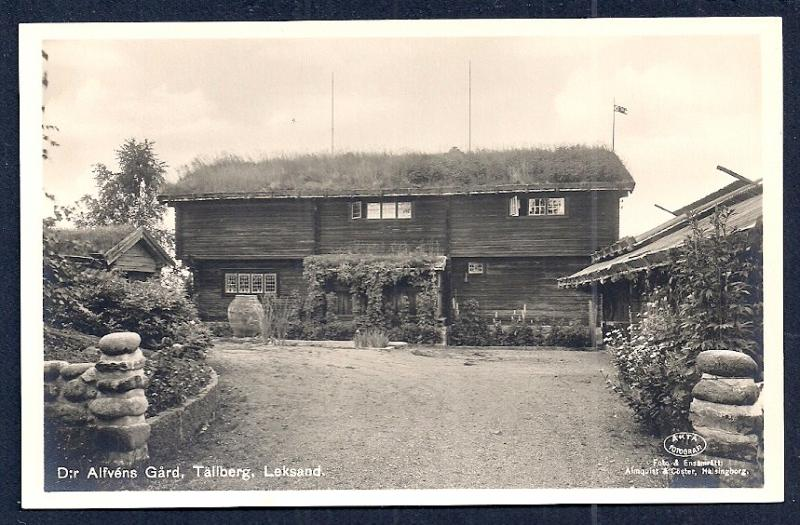 Alfvén's Yard Tällberg Sweden RPPC unused c1920's