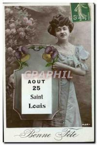 Old Postcard Louis Surname