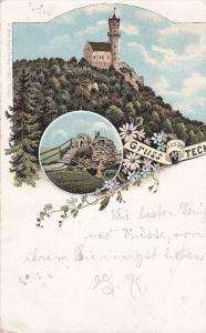 Gruss Von Der TECK, Germany, PU-1896; 2-Views, Castle