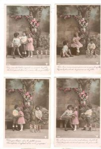 RP, Set Of Five Real Photos Of Children During A Play, PU-1909