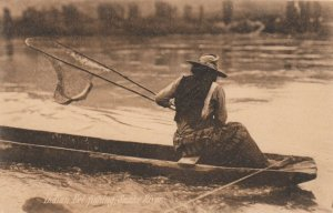 Indian Eel Fishing , Snake River , Idaho, 1900-10s