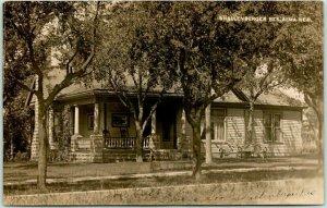 1909 ALMA, Nebraska RPPC Photo Postcard SHALLENBERGER RESIDENCE House View