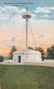 Virginia Arlington The Mast Of The Battleship Maine