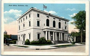 Gadsden, Alabama Postcard Post Office Building / Street View S.H. Knox  c1930s