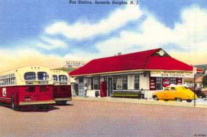 Vintage Repro 1951 New Jersey USA Postcard Seaside Heights Bus Terminal 30L