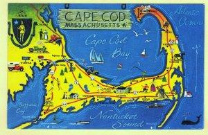 MAP OF CAPE COD, MASSACHISETTS   SEE SCAN