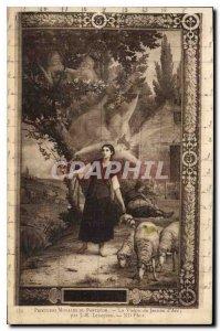 Postcard Old Murals Pantheon Jeanne D'Arc Vision