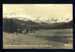 Estes Park, Colorado/CO Photo Postcard, Long's Peak & Range From Highway