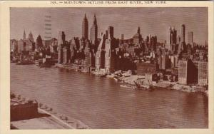 New York City Midtown Skyline From East River 1936