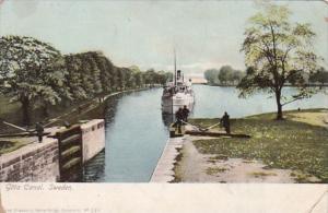 Sweden Steamer Entering Gota Canal