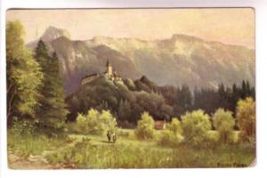 N Melen, People in Countryside, Castle on Hill, HMS Series 782