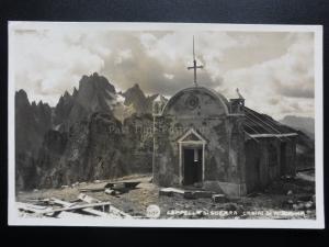 Italy: Cappella di Guerra - Cadini di Misurina - Old Real Photograph Postcard