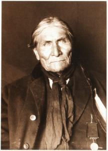 Geronimo Chiricahua Apache Chief in 1905 Native American Modern Postcard #1