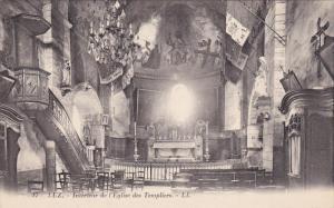 LUZ, France, 1900-1910's; Interieur De L'Eglise Des Templiers