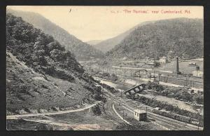 The Narrows Valley RR Tracks Cumberland MD Unused c1910s