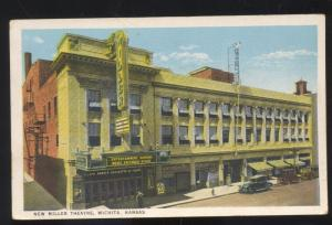WICHITA KANSAS NEW MILLER THEATRE DOWNTOWN VINTAGE POSTCARD