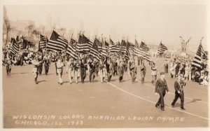 RP: CHICAGO , Illinois , 1920-30s ; American Legion Parade