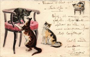 CATS PC Cats and chairs (a2179)