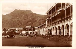 Aden Yemen Round The Crescent Street Scene Real Photo Antique Postcard K23625