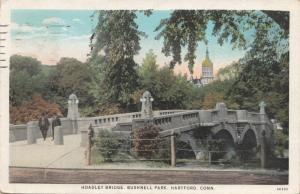 HOADLEY BRIDGE, BUSHNELL PARK, HARTFORD, CONNECTICUT, 1933 used Postcard