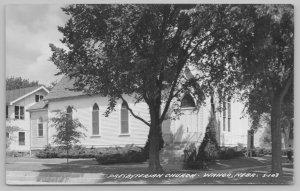 Wahoo Nebraska~Arch Doorway~Neighbors to Presbyterian Church~1940s RPPC Postcard
