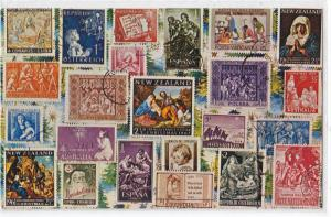 Christmas Stamps from Around the World
