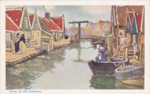 Netherlands Scene On The Zuiderzee Printed For Heineken's Aan-De-Zuiderzee 19...