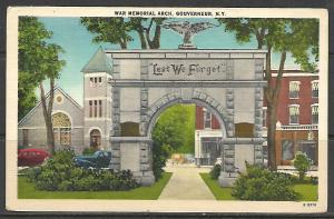 New York, Gouverneur - War Memorial Arch - [NY-112]